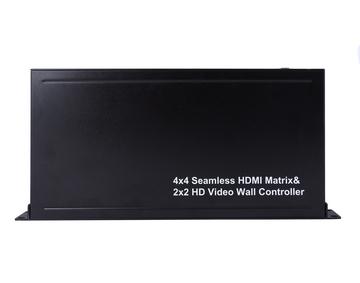 4X4 Seamless HDMI matrix & 2x2 Video Wall Controller